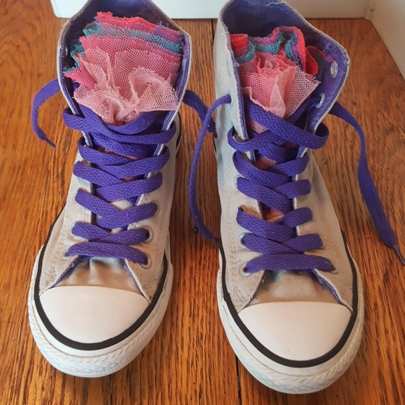 bd3ace5d6f1d Converse Other - Converse Chuck Taylor girls size 3 with ruffles